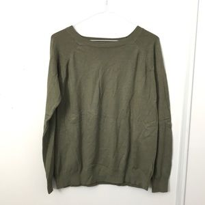 Khaki Green Long Sleeve Sweatshirt